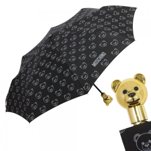 Зонт складной Moschino 8043-OCA Monobear Gold Black фото-1