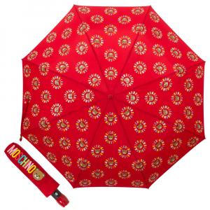 Зонт складной Moschino 8059-OCC Big Bear Circles Red фото-1