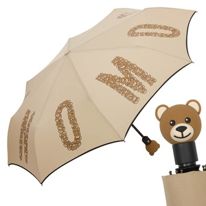 Зонт складной Moschino 8120-OCD Big Bear Letters Dark Beige фото-1