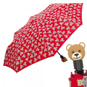 Зонт складной Moschino 8135-OCC Slogan Bear Red фото-1