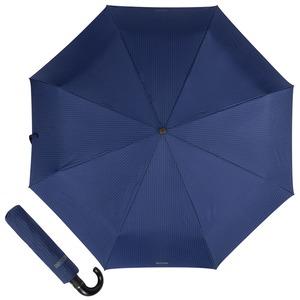 Зонт складной Moschino 8509-ToplessF Pinstripes Blue фото-1