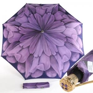 Зонт складной Pasotti Auto Georgin Viola Lux фото-1
