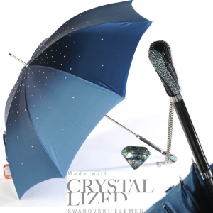 Зонт трость Pasotti Swarovski Blu  фото-2