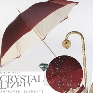 Зонт-трость Pasotti Swarovski Bordo  фото-3