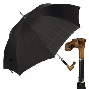 Зонт-трость Pasotti Alano Cell Black фото-1