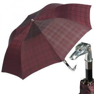 Зонт складной Pasotti Auto Bracco Silver Cell Bordo фото-1