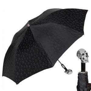 Зонт складной Pasotti Auto Capo Silver Sculls Black фото-1