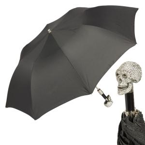 Зонт складной Pasotti Auto Capo Swarovski StripesS Black фото-1