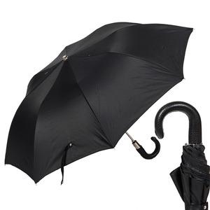 Зонт складной Pasotti Auto Classic Pelle Oxford Black фото-1