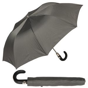 Зонт складной Pasotti Auto Classic Pelle StripesS Grey фото-1