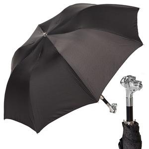 Зонт складной Pasotti Auto Labradore Silver Onda Black фото-1