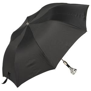 Зонт складной Pasotti Auto Leone Silver Oxford Black фото-2