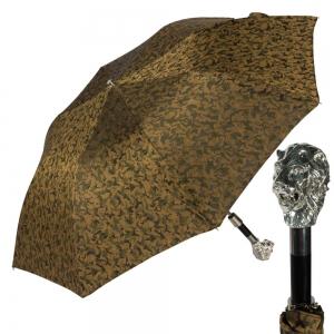 Зонт складной Pasotti Auto Leone Silver Reflection Oliva фото-1