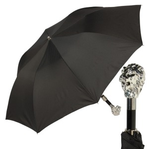 Зонт складной Pasotti Auto Leone Silver StripesS Black фото-1