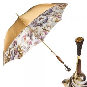 Зонт-трость Pasotti Becolore Beige Butterfly Albena Swar фото-1