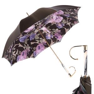 Зонт-трость Pasotti Becolore Beige Palazzo Viola Marble фото-1