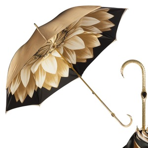 Зонт-трость Pasotti Bеcolore Georgin Beige Oro  фото-1