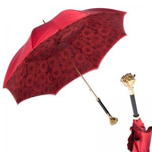 Зонт-трость Pasotti Becolore Rosso Rosa Oro Roza фото-1