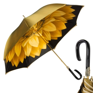 Зонт-трость Pasotti Bicolore Georgin Giallo Plastica Fiore фото-1