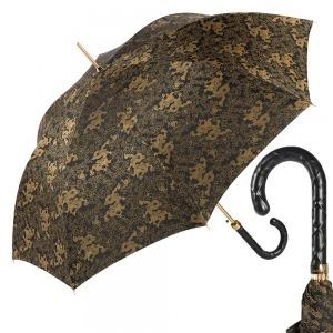 Зонт-трость Pasotti Black Feng Shui Pelle Rombo фото-1