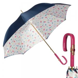 Зонт-трость Pasotti Blu Hearts Plastica Fiore фото-1