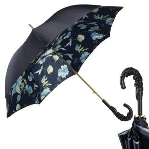 Зонт-трость Pasotti Blu Magnolia Pelle фото-1