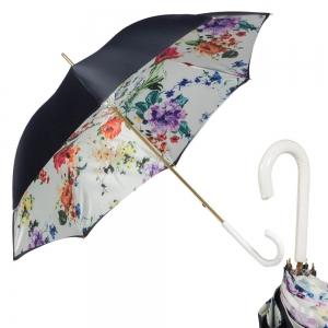 Зонт-трость Pasotti Blu Ticolori Classic Bianco фото-1