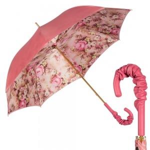 Зонт-трость Pasotti Magenta Daizy Pelle фото-1