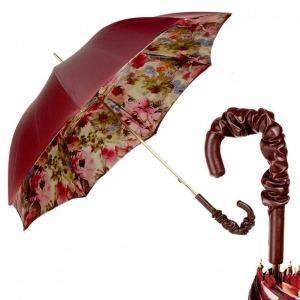 Зонт-трость Pasotti Bordo Pion Pelle фото-1