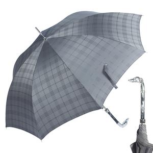 Зонт-трость Pasotti Bracco Silver Cell Grey фото-1