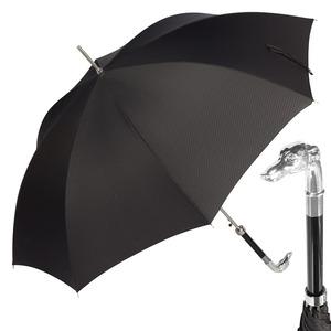 Зонт-трость Pasotti Bracco Silver Onda Black фото-1