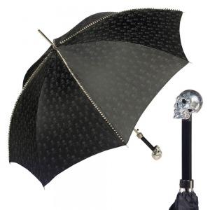 Зонт-трость Pasotti Capo Silver Picco Sculls Nero фото-1