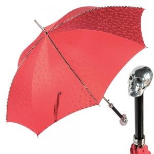 Зонт-трость Pasotti Capo Silver Picco Sculls Rosso фото-1