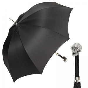 Зонт-трость Pasotti Capo Swarovski Oxford Black фото-1