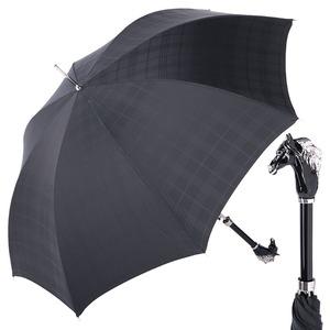 Зонт-трость Pasotti Cavallo Cell Black  фото-1