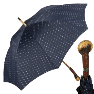 Зонт-трость Pasotti Chestnut Maple Dots Blu фото-1