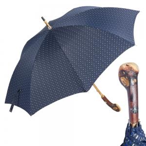 Зонт-трость Pasotti Chestnut Maple Dots Blu фото-7