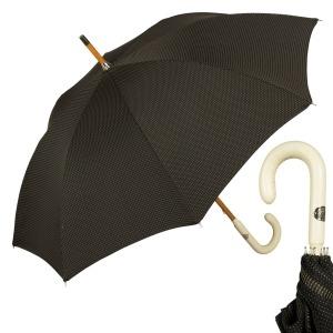 Зонт-трость Pasotti PelleBianco/Legno Punto Black фото-1