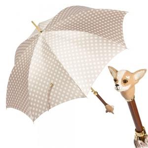 Зонт-трость Pasotti Chihuahua Pois Beige фото-1