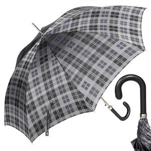 Зонт-трость Pasotti Classic Pelle Celtic Grey фото-1