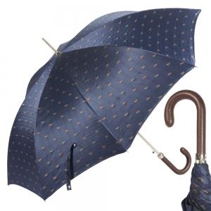 Зонт-трость Pasotti Classic Pelle Cetrio Blu фото-1