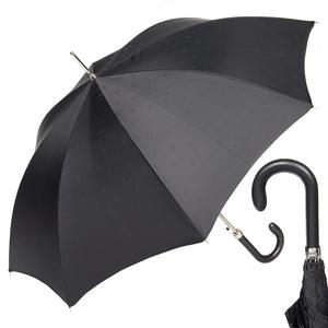 Зонт-трость Pasotti Classic Pelle Comondor Black фото-1