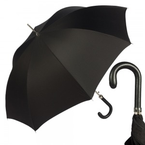 Зонт-трость Pasotti Classic Pelle Niagara Black фото-1
