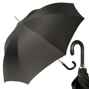 Зонт-трость Pasotti Classic Pelle StripesS Black фото-1