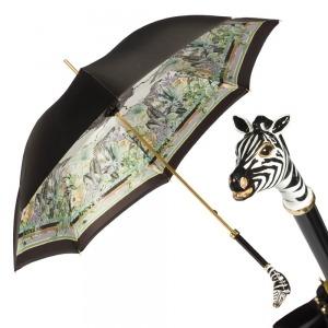 Зонт-Трость Pasotti Nero Africa Zebra Lux  фото-1