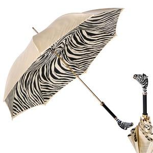 Зонт-трость Pasotti Crema Zebra Lux фото-1