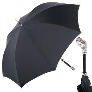 Зонт-трость Pasotti Dinosaur Silver Grono Black фото-1