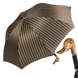 Зонт-трость Pasotti Duck Legno Double Stripes фото-1
