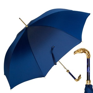 Зонт-трость Pasotti Eagle Gold Oxford Blu  фото-1