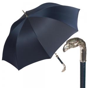 Зонт-трость Pasotti Eagle Pelle Oxford Blu фото-1